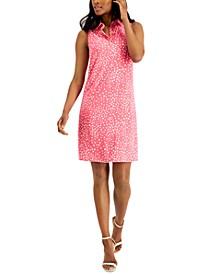 Geometric Print Sleeveless Dress