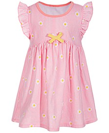 Toddler Girls Daisy Striped Cotton Dress, Created for Macy's