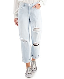 Juniors' Distressed Boyfriend Jeans