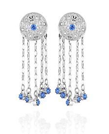 Celestial Button Fringe Earrings