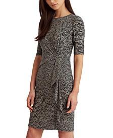 Print Twisted-Knot Jersey Dress