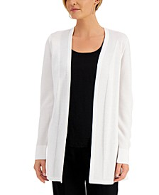 Petite Solid Open-Front Cardigan, Created for Macy's
