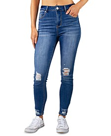 Juniors' High-Rise Destructed Jeans