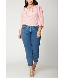 Women's Plus Size Ami Skinny Ankle Jeans with Exposed Zippers