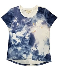 Big Girls Short Sleeve Tie-Dye T-shirt