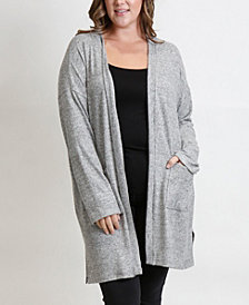 Women's Plus Size Cozy Cardigan