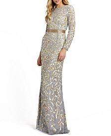 Allover Sequin Gown