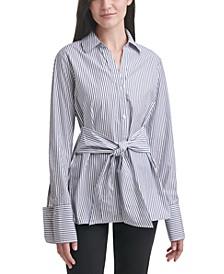 Oversized Tie-Waist Shirt