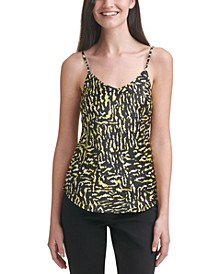 Printed Charmeuse Tank Top