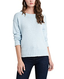 Ribbed-Trim Roll-Neck Sweater