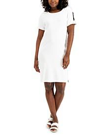 Cotton Split-Sleeve Dress, Created for Macy's