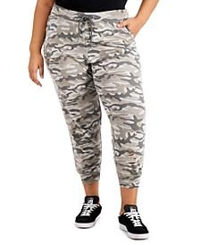 Trendy Plus Size Ripped Jogger Pants