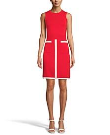 Contrast-Trim Knit Dress