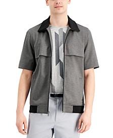 Men's Short-Sleeve Full-Zip Knit Jacket, Created for Macy's