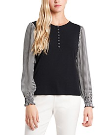 Elouise Ruffle Sleeve Top, Created for Macy's