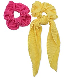 INC 2-Pc. Pleated & Smooth Scrunchie Set, Created for Macy's