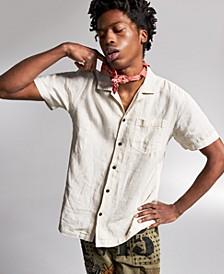 Ouigi Theodore for Men's Linen Graphic Shirt