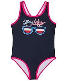 Big Girls Flip Sequin One Piece Swimsuit