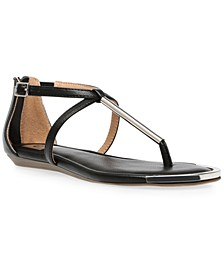 Labelle T-Strap Flat Sandals