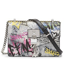 Elissa Graffiti Small Leather Crossbody