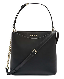 DKNY Dayna Leather Bucket Bag