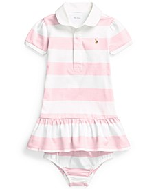 Ralph Lauren Baby Girls Cotton Jersey Rugby Dress