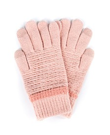 Solid Knit Touchscreen Glove with Cozy Lining