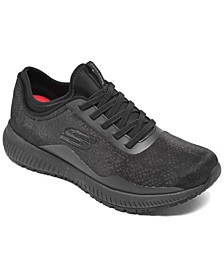 Women's Work Relaxed Fit - Squad Slip-Resistant - Glistle Work Sneakers from Finish Line