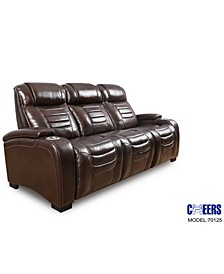 "Raylander 89"" Leather Power Sofa, Created for Macy's"