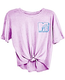 Juniors' MTV Tie-Front T-Shirt