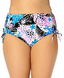 California Waves Trendy Plus Size High-Waist Bikini Bottoms, Created for Macy's