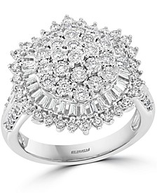 EFFY® Diamond Cluster Statement Ring (1-1/5 ct. t.w.) in 14k White Gold