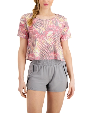 Tropical Tie-Dyed Cropped T-Shirt