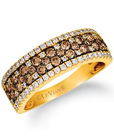 Chocolate Diamond® & Vanilla Diamond® Band (7/8 ct. t.w.) in 14k Gold