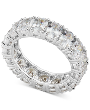 Cubic Zirconia Oval Eternity Band in Sterling Silver