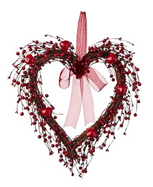 Valentine's Berry Heart Wreath