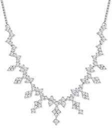 Diamond Cluster Statement Necklace (2-1/2 ct. t.w.) in 14k White Gold
