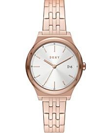 Women's Parsons Rose Gold-Tone Stainless Steel Bracelet Watch 34mm
