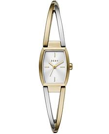 Women's Crosswalk Two-Tone Stainless Steel Bangle Bracelet Watch 18x22mm