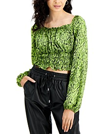 Smocked Crop Top, Created for Macy's