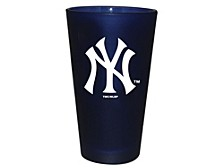 New York Yankees Team Color Frosted Pint Glass, 16-oz.