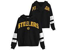 Pittsburgh Steelers Women's Sideline Striped Fleece Hoodie