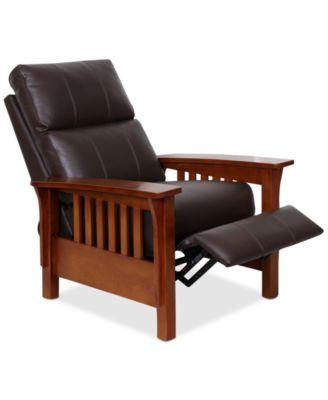 Harrison Leather Pushback Recliner  sc 1 st  Macy\u0027s & Contemporary Recliners - Macy\u0027s islam-shia.org