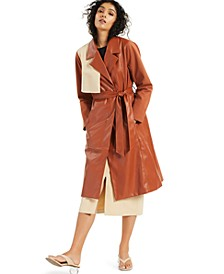 Petite Belted Trenchcoat, Created for Macy's