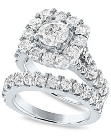 IGI Certified Diamond Bridal Set (4 ct. t.w.) in 14k White Gold
