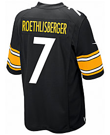 Nike Kids' Pittsburgh Steelers Ben Roethlisberger Jersey, Big Boys (8-20)