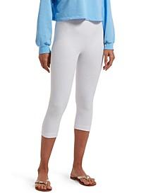 Women's Reversible French Terry Ultra High Waist Capri Legging