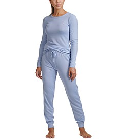 Ribbed Loungewear Top & Jogger Pants