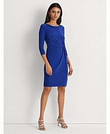 Petite Twisted-Knot Jersey Dress