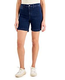 Petite Bermuda Jean Shorts, Created for Macy's